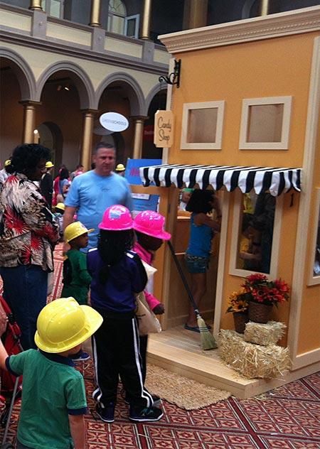 kids enjoying Little Main Street Playhouse